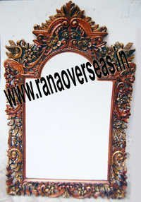 Wooden Mirror Frame In Carving