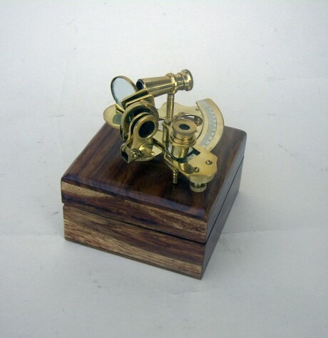NAUTICAL BRASS SEXTANT WITH WOODEN BOX 4