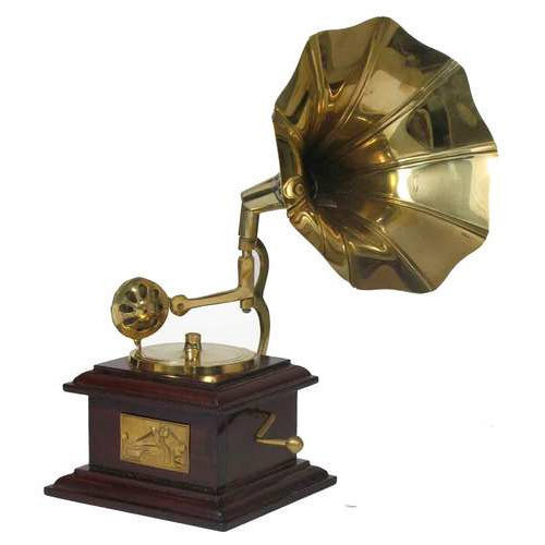 Square Wooden Gramophone