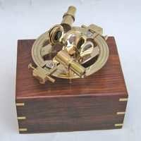 NAUTICAL BRASS ROUNDED DOUBLE SCOPE SEXTANT 7.5