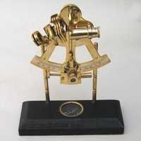 NAUTICAL BRASS SEXTANT ON COMPASS 8