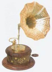 Mini Wooden handcrafted Gramophone
