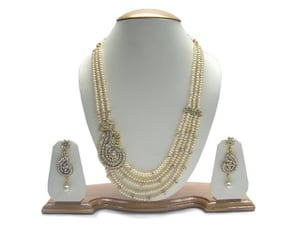 synthetic stones necklace, heavy designer pearl necklace, bridal necklace set fashion jewellery
