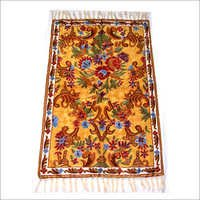 Kashmir Chain Stitch Hand Embroidery Art Silk Rug