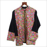 Kashmiri Hand Embroidered Wool Short Jacket