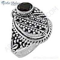 Antique Royal Style Garnet Gemstone Silver Ring