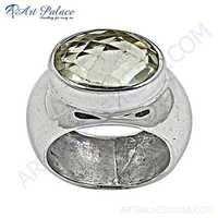 Top Quality Crystal Silver Gemstone Ring