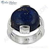 Pure Style  Lapis Lazuli Silver Gemstone Ring