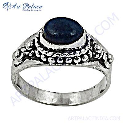 HOT Luxury Fashion Lapis Lazuli Gemstone Silver Ring