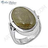 Excellent Golden Rutil Sterling Silver Gemstone Ring