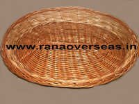 Bamboo Baskets In Oval Shape