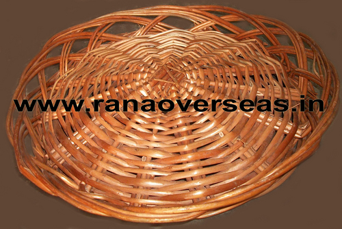 Bamboo Baskets In Round And Cutting Shape