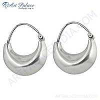 Special New Plain Silver Earrings