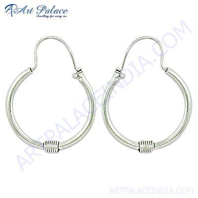 Cool Plain Silver Earrings