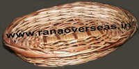 Bamboo Baskets In Oval Design