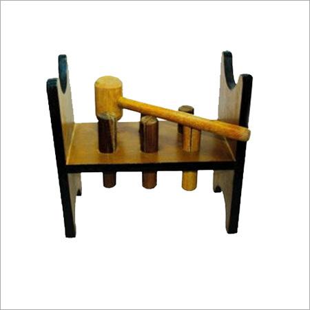 Wooden Peg Hammer Toy