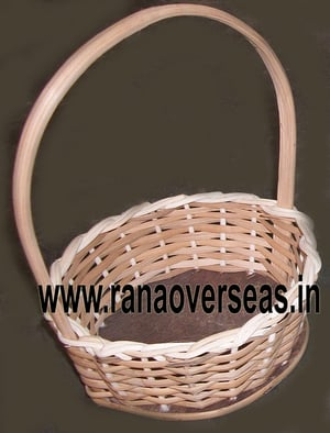 Hanging Bamboo Baskets In Round Shape