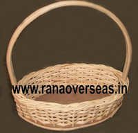 Hanging Bamboo Baskets in Oval Design