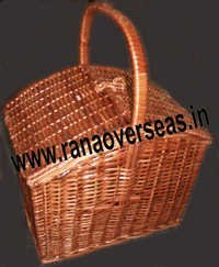 Covered Hanging Bamboo Baskets