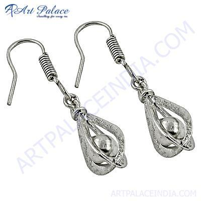 Trendy Charm Plain Silver Earrings