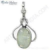 New Antique Style Rainbow Moonstone Gemstone Silver Pendant