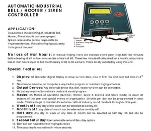 Automatic Industrial Alarm Bell