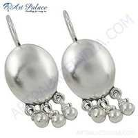 Trendy Charming Plain Silver Earrings