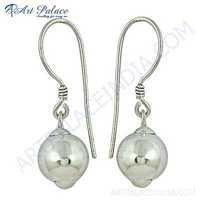 Hot Sale Fashion Plain Silver Earrings