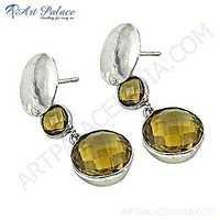 Exclusive Bear Quartz Silver Gemstone Earrings For Women