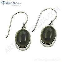 Classic Smokey Quartz Silver Gemstone Earrings
