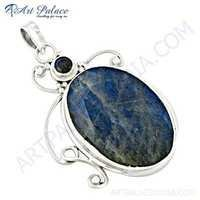 Excellent New Fashionable Labradorite Gemstone Silver Pendant