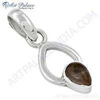 Trendy Rainbow Moonstone Gemstone Silver Pendant