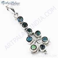 Famous Design Labradorite Gemstone Silver Pendant