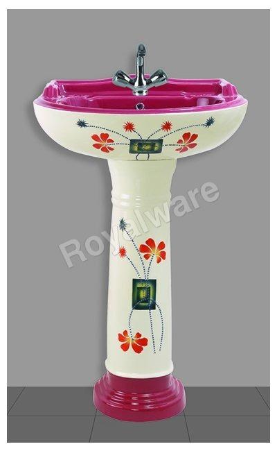 vitrosa pedestal wash basin