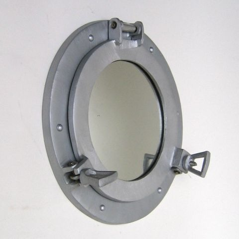 Nautical Aluminum Porthole Mirror