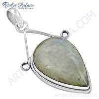 Newest Style Rainbow Moonstone Silver Pendant