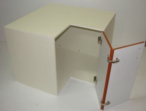 Corner Base cabinet are available half the shelves