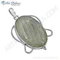New Arrival Rainbow Moonstone Gemstone Silver Pendant