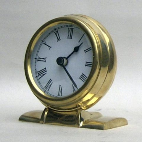 NAUTICAL BRASS CLOCK BATTRIES NOT INCL 4