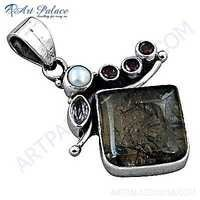 Fantastic Fashionable Multi Gemstone Silver Pendant