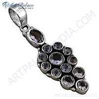 Famous Design Amethyst Gemstone Silver Pendant