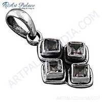 Valuable Amethyst Gemstone Silver Pendant