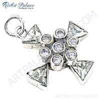 Classic Crystal Gemstone silver Pendant