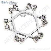 Fashionable Amethyst Gemstone Silver Pendant