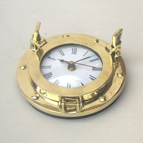 NAUTICAL BRASS PORTHOLE CLOCK 6