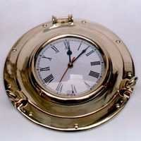 NAUTICAL BRASS SHIP POTHOLE CLOCK 11