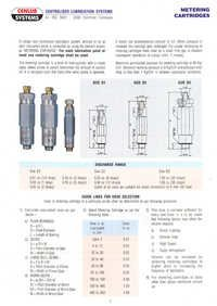 Lubrication Metering Cartridges