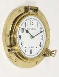 NAUTICAL BRASS  POTHOLE CLOCK 8.5