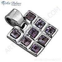 Newest Style Amethyst Gemstone Silver pendant