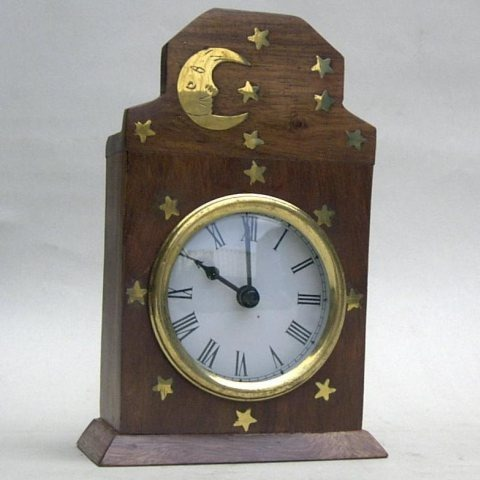 NAUTICAL BRASS WOODEN CLOCK  7